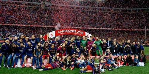 梅西加时2助攻率巴萨2-0国王杯夺冠