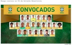 巴西队百年美洲杯23人大名单