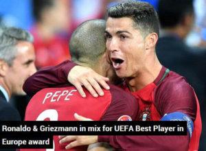 C罗梅西领衔欧洲最佳球员候选
